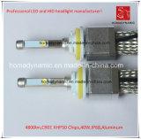 O farol do diodo emissor de luz da qualidade superior com a microplaqueta 4800lm 9006 6000k de Xhp 50 do CREE
