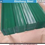 Piatto d'acciaio ondulato rivestito Dx51d di colore della lamiera sottile delle mattonelle di tetto