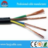 Fio elétrico com condutores de alumínio revestidos de cobre, fio de isolamento de PVC, fio plano de bainha