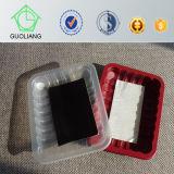 Cassetto di plastica a gettare della carne con il rilievo assorbente