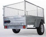 Pesante-dovere di 6X4 Galvanized Cage Trailer con Spare Tyre