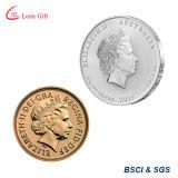 Pièce de monnaie en gros d'enjeu d'or de la Reine Elizabeth II d'usine