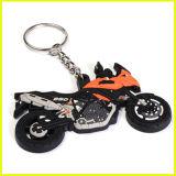 3D motociclo di gomma di plastica Keychain