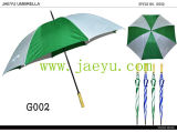 Open automatico Windproof Green e White Golf Umbrella