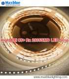 Tira elevada Superbright do diodo emissor de luz 2835SMD do CRI 95+ 22-24lm/LED 120LEDs/M
