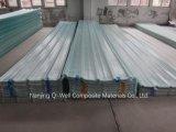 Стеклоткань панели FRP Corrugated/прозрачный толь стекла волокна обшивают панелями W171011