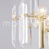 Candelabro de cristal do metal dourado simples moderno de Champagne para a sala de visitas