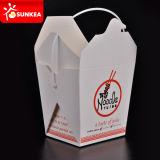 Caja disponible impresa insignia de encargo del alimento del almuerzo del papel de Kraft