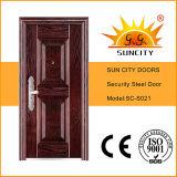 Diseño de acero de la puerta de las fotos del precio de la puerta del hierro (SC-S021)