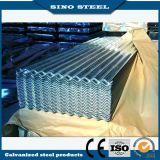 Hoja de acero acanalada galvanizada sumergida caliente del material para techos de Dx51d