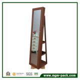 Шкаф ювелирных изделий Roating 360 градусов стоящий с одевать зеркало