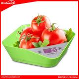 Escala de peso da dieta de alimento de Digitas com 5kg a escala da bacia da capacidade um