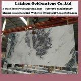 Декоративная напольная каменная стена кроет пасмурные серые мраморный плитки и слябы черепицей