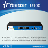 100 Users Hybrid IP PBXまでのYeastar 1u Rack Mount