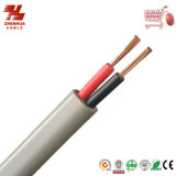 PVC Insulated y Sheathed 300/500V de Core Flat Power Cable de la alta calidad 2 Cores/3