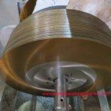 La buena circular dividida en segmentos superior del HSS de la capa de la magnetita del tubo de acero vio la lámina