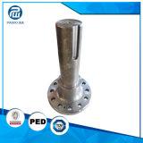 Eje de largo roscado trabajado a máquina eje de encargo de alta tecnología de la tira del acero de aleación de la forja