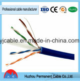 Cable del cable de LAN UTP CAT6, CAT6 4 pares del cable, categoría 6 del cable de la red