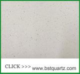 Partie supérieure du comptoir blanche de pierre de quartz d'étincelle