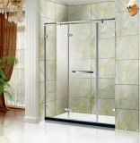 O cromo Dandle a porta de vidro do chuveiro do banheiro da dobradiça do pivô 8mm