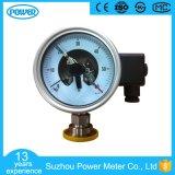 manometro di diaframma sanitario del contatto elettrico di 4 '' 100mm con la flangia