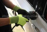Hallo-Kräfte orange Sicherheits-Arbeits-Handschuh mit Sandy-Nitril (ND8061)