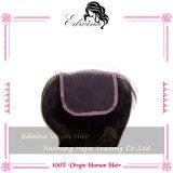 Закрытия шнурка шнурка 4*4 человеческих волос Toupee 100% Handmade женщин швейцарского переднего