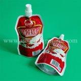 Doypack de empaquetage personnalisé avec le bec pour le jus, vin, lait