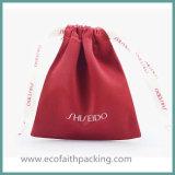 Satindrawstring-Beutel mit gedrucktem Silk Farbband