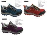 第50557靴をハイキングしている女性は2つの様式靴に貯蔵する