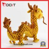 Animal enchido enchido dourado do dragão do brinquedo do luxuoso do dragão