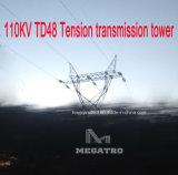 Torretta della trasmissione di tensionamento di Megatro 110kv Td48