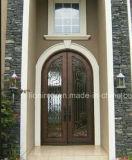 二重右のInswingの錬鉄エントリ機密保護のドア