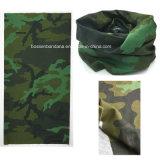 Bandeau tubulaire personnalisé promotionnel de collet multifonctionnel de polyester de vert d'armée