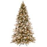 7-1/2 albero di Natale artificiale provvisto di cardini pino di piede Snowy Westwood con 650 indicatori luminosi liberi (MY100.085.00)