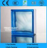 Bloco de vidro azul/tijolo de vidro/bloco de vidro do ombro/bloco de canto de vidro