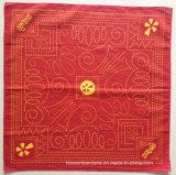 Fabrik Soem-Erzeugnis passte Entwurf gedrucktes Baumwollschwarzes Quadrat-Sport-grosses Taschentuch an