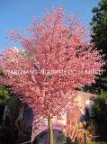 Árvore sintética falsificada artificial da flor do pêssego