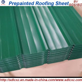 Feuille en acier ondulée enduite d'une première couche de peinture /PPGI de toiture couvrant la feuille