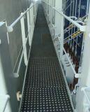 Циновка резины настила междурядья переходного люка корабля