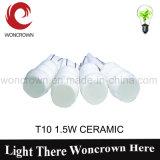 T10 1.5W keramische heiße Automobil-LED Beleuchtung