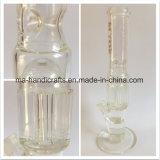 Tubulações de água de fumo do vidro desobstruído e reto de 16 polegadas com árvore Perc do braço