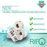 Rifo BOPPはバー・コードプリンターによって熱転写紙を基づかせていた