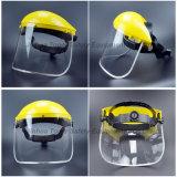 PVC visera con la rueda Ratche Suspensión para protección facial (FS4014)