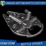 L'apri di bottiglia antico del nichel ha impresso il marchio su ordinazione stampato apri di bottiglia di marchio