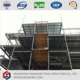 Prédio de escritórios elevado da construção de aço da ascensão