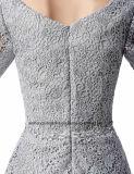 女性のレースの外装のイブニング・ドレスのプロムの服