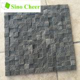 Split Face Stone Black Marble Mosaic Floor Tile Designs