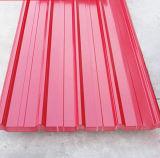 Comitati del tetto isolati strati d'acciaio ignifugi del tetto, marrone-rosso blu