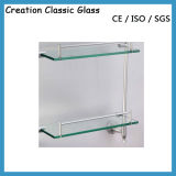2-12mmは磨かれた曇らされたガラスの酸によってエッチングされたConerによって和らげられた棚ガラスを曲げた